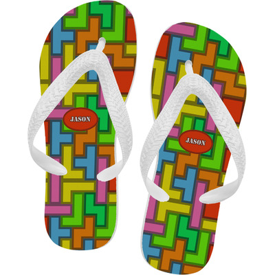 Tetromino Flip Flops (Personalized)