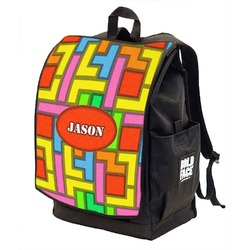 Tetris Print Backpack w/ Front Flap  (Personalized)