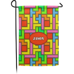 Tetris Print Garden Flag - Single or Double Sided (Personalized)