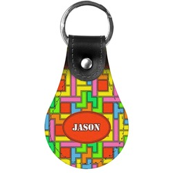 Tetromino Genuine Leather  Keychains (Personalized)
