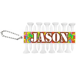 Tetris Print Golf Tees & Ball Markers Set (Personalized)