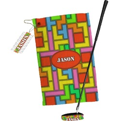 Tetris Print Golf Towel Gift Set (Personalized)