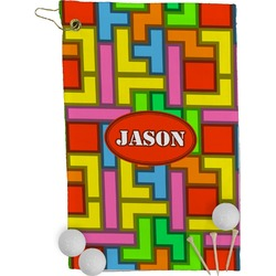Tetris Print Golf Towel - Full Print (Personalized)