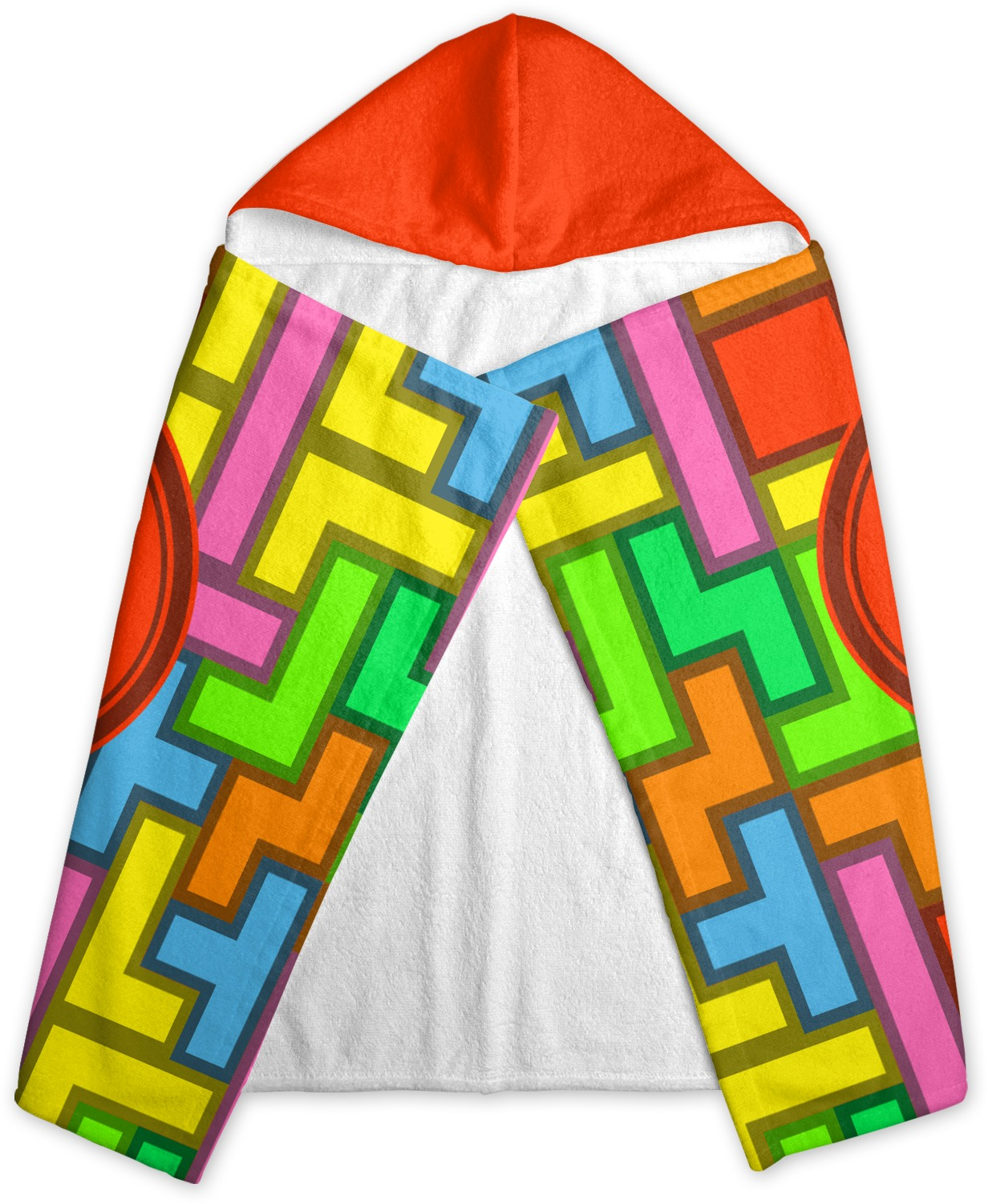 Tetris Print Hooded Towel Personalized Youcustomizeit