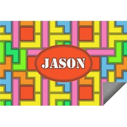 Tetris Print Indoor / Outdoor Rug (Personalized)