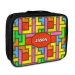 Tetris Print Insulated Lunch Bag (Personalized)