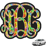 Tetris Print Interlocking Monogram Car Decal (Personalized)