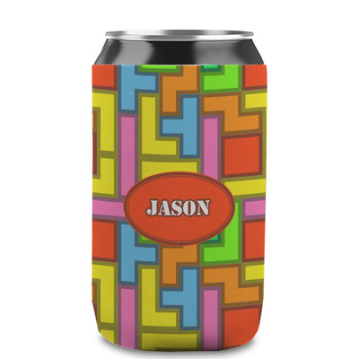 Tetromino Can Sleeve (12 oz) (Personalized)