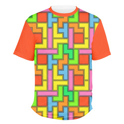 Tetris Print Men's Crew T-Shirt (Personalized)