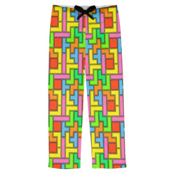 Tetris Print Mens Pajama Pants (Personalized)