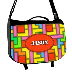Tetris Print Messenger Bag (Personalized)