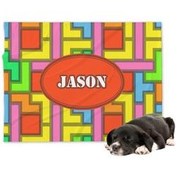 Tetris Print Minky Dog Blanket (Personalized)