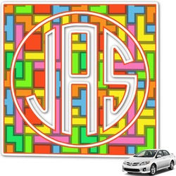 Tetris Print Monogram Car Decal (Personalized)