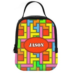 Tetris Print Neoprene Lunch Tote (Personalized)