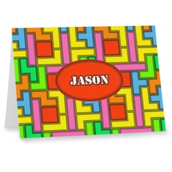 Tetris Print Notecards (Personalized)