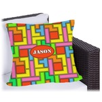 Tetromino Outdoor Pillow (Personalized)