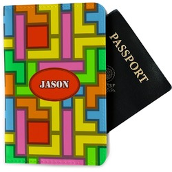 Tetris Print Passport Holder - Fabric (Personalized)