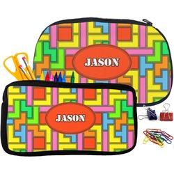 Tetris Print Pencil / School Supplies Bag (Personalized)
