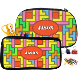 Tetris Print Pencil / School Supplies Bag (Personalized)