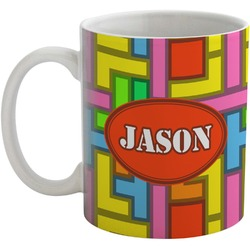 Tetris Print Coffee Mug (Personalized)