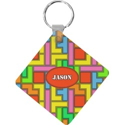 Tetris Print Diamond Key Chain (Personalized)