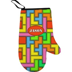 Tetris Print Right Oven Mitt (Personalized)