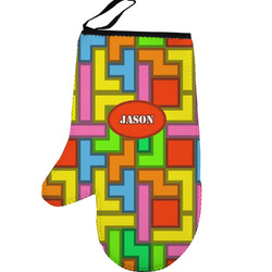 Tetris Print Left Oven Mitt (Personalized)