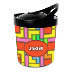 Tetris Print Plastic Ice Bucket (Personalized)