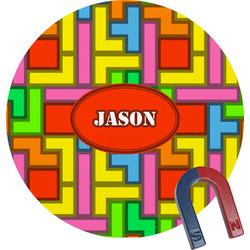 Tetris Print Round Magnet (Personalized)