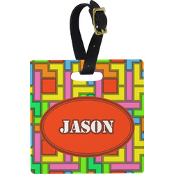 Tetris Print Luggage Tags (Personalized)