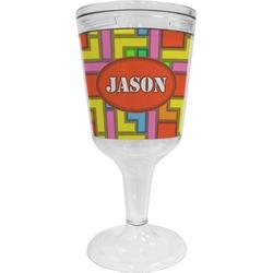 Tetris Print Wine Tumbler - 11 oz Plastic (Personalized)