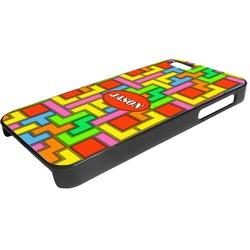 Tetris Print Plastic iPhone 5/5S Phone Case (Personalized)