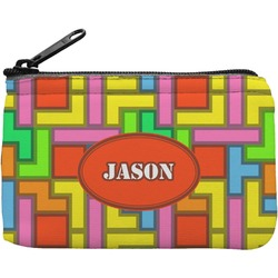 Tetris Print Rectangular Coin Purse (Personalized)