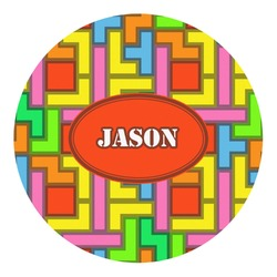 Tetris Print Round Decal - Custom Size (Personalized)