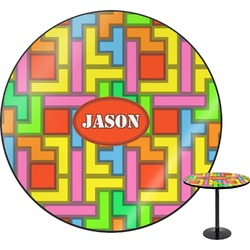 Tetris Print Round Table (Personalized)
