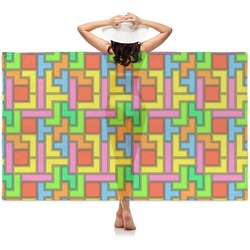 Tetris Print Sheer Sarong (Personalized)
