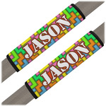 Tetromino Seat Belt Covers (Set of 2) (Personalized)