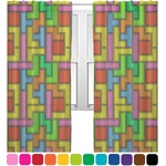 Tetris Print Sheer Curtains (Personalized)