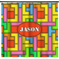 Tetris Print Shower Curtain (Personalized)