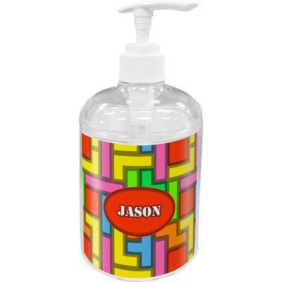 Tetromino Acrylic Soap & Lotion Bottle (Personalized)