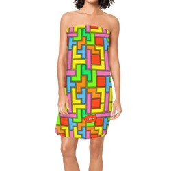 Tetris Print Spa / Bath Wrap (Personalized)