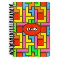 Tetris Print Spiral Bound Notebook (Personalized)