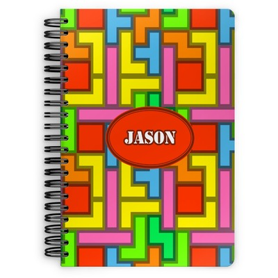 Tetromino Spiral Notebook (Personalized)