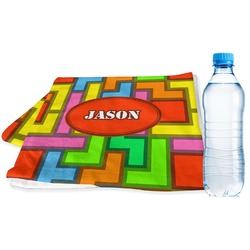 Tetris Print Sports Towel (Personalized)