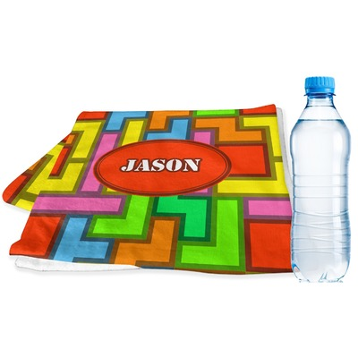 Tetromino Sports & Fitness Towel (Personalized)