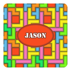 Tetris Print Square Decal - Custom Size (Personalized)