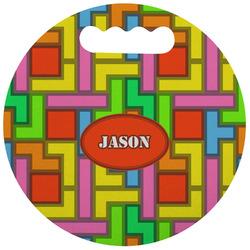 Tetris Print Stadium Cushion (Round) (Personalized)
