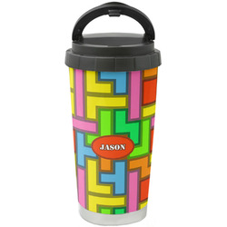 Tetromino Stainless Steel Travel Mug (Personalized)