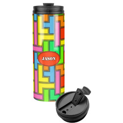 Tetris Print Stainless Steel Tumbler (Personalized)