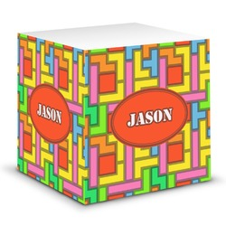 Tetromino Sticky Note Cube (Personalized)
